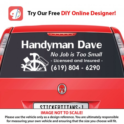 Rear Glass Decal - Handyman Business 1