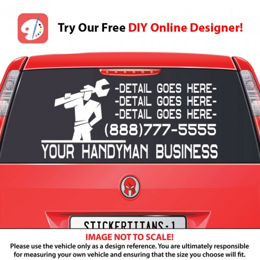 Rear Glass Decal - Handyman Business 2