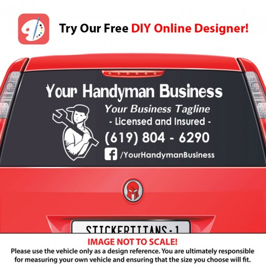 Rear Glass Decal - Handyman Business 3