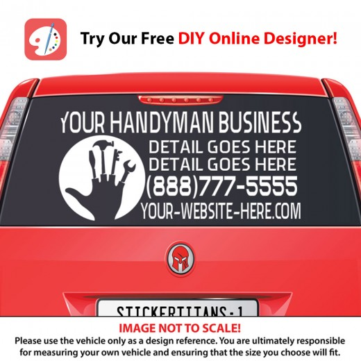 Rear Glass Decal - Handyman Business 6