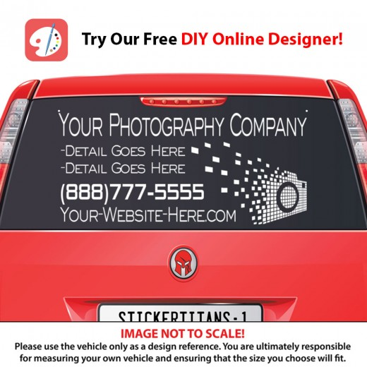 Rear Glass  Decal - Photography Business 2