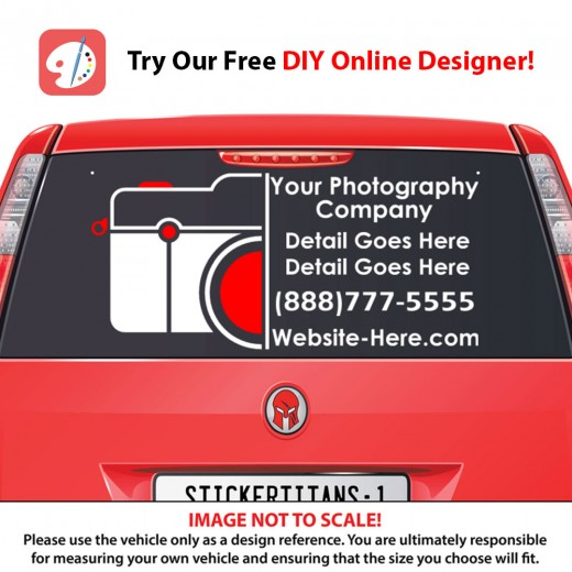 Rear Glass  Decal - Photography Business 4