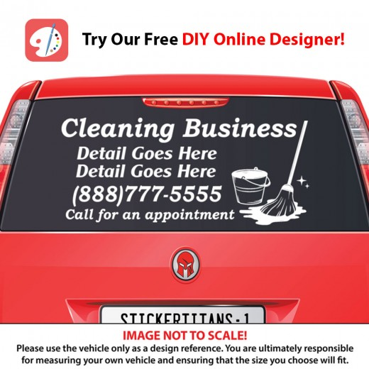 Rear Glass  Decal - Cleaning Services 4