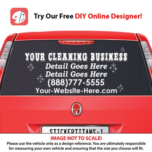 Rear Glass  Decal - Cleaning Services 5