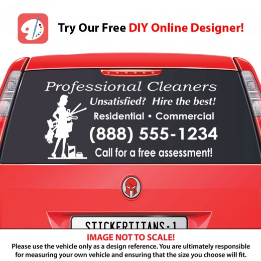 Rear Glass  Decal - Cleaning Services 6
