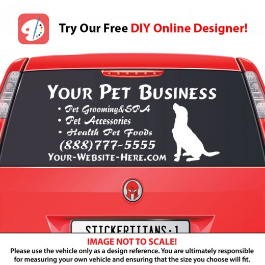 Rear Glass  Decal - Pet Services 3