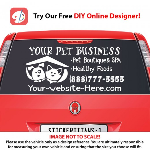 Rear Glass  Decal - Pet Services 4