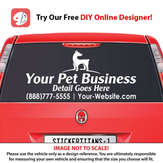 Rear Glass  Decal - Pet Services 5