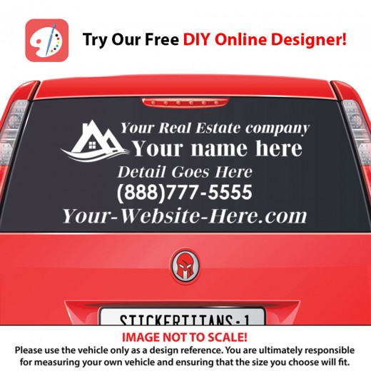 Rear Glass  Decal - Real Estate Business 3