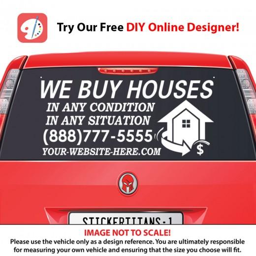 Custom Rear Glass Business Decal - Business car window sticker
