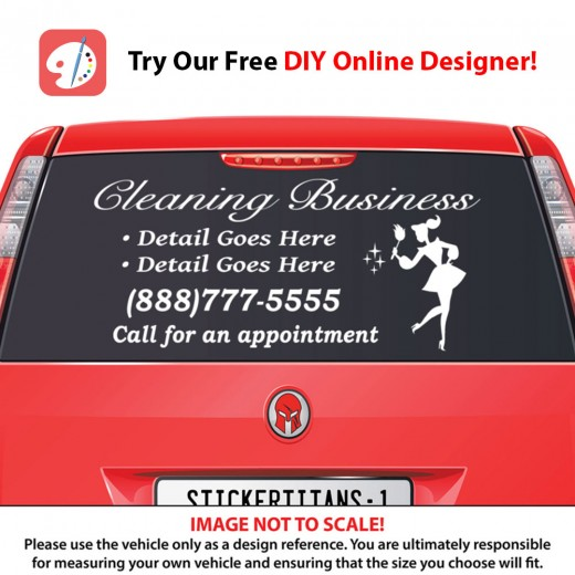 Rear Glass  Decal - Cleaning Services 2