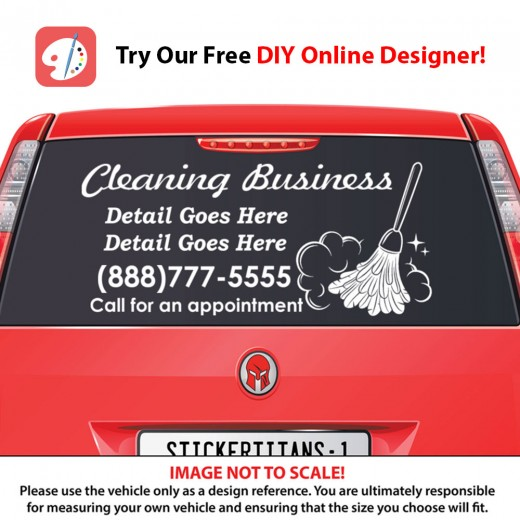 Rear Glass  Decal - Cleaning Services 3