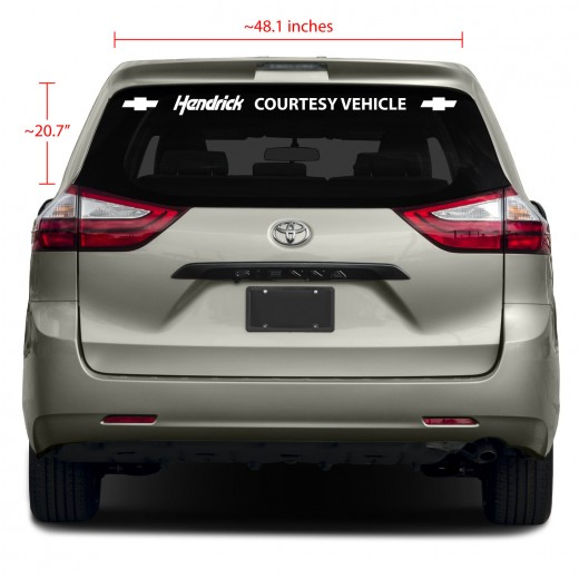 1-Line Rear Glass Business Vinyl Decal