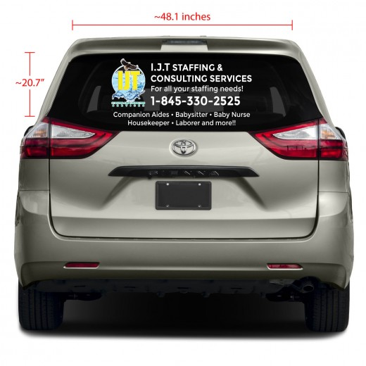 Full Color Rear Glass Business Vinyl Decal