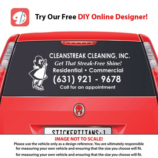 Rear glass decal cleaning services 1