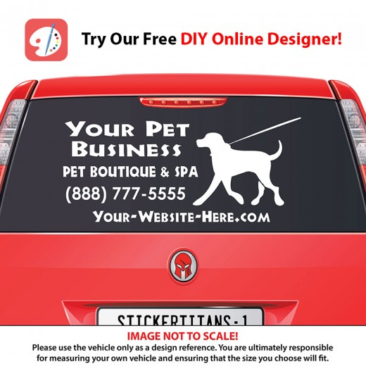 Rear Glass  Decal - Pet Services 1
