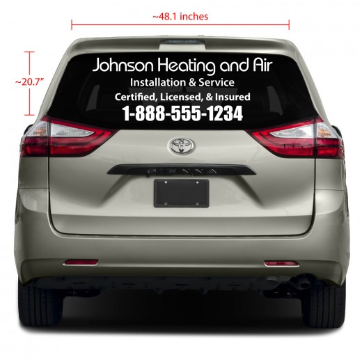 Rear Glass Business Vinyl Decal