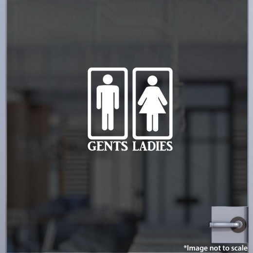 Bathroom 1 - Gents / Ladies Decal