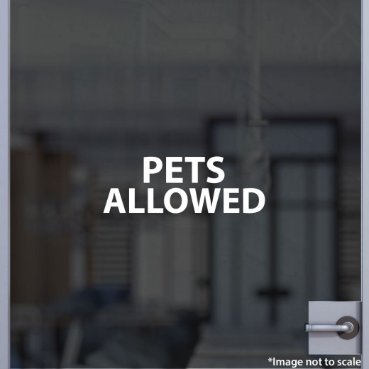 Pets Allowed Decal