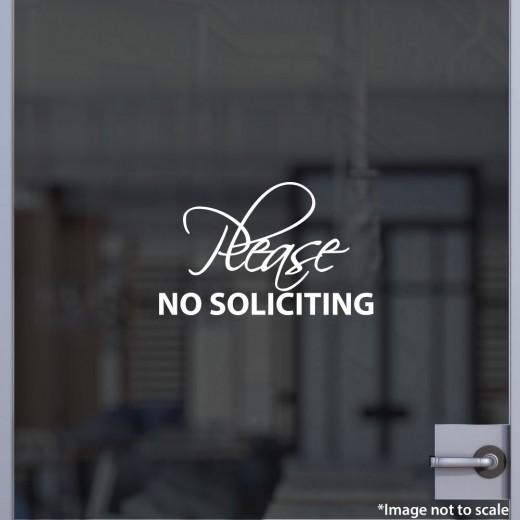 Please No Soliciting Decal