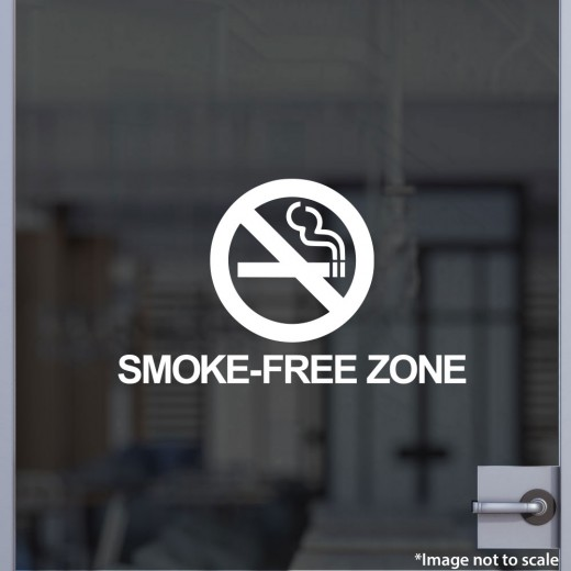 Smoke-Free Zone Decal