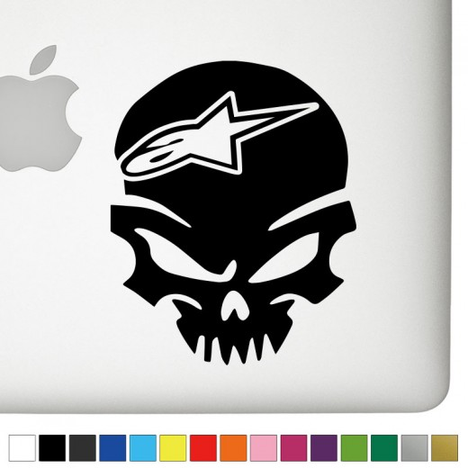 Alpinestars V2 Badass Skull Decal