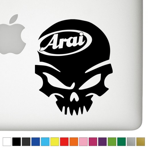 Arai Badass Skull Decal