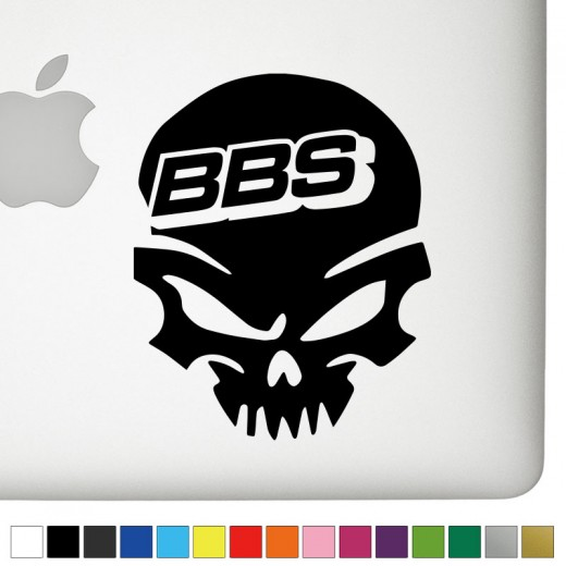 BBS Badass Skull Decal