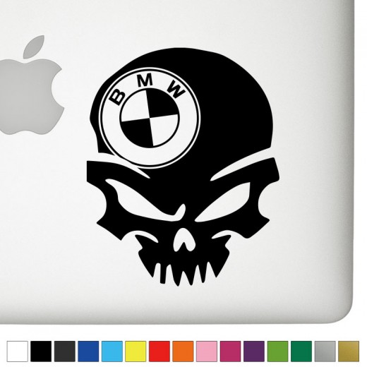 BMW Badass Skull Decal