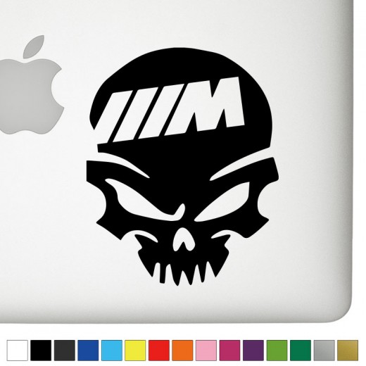 BMW M-Power Badass Skull Decal