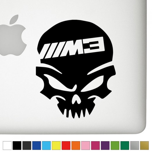 BMW M3 Badass Skull Decal