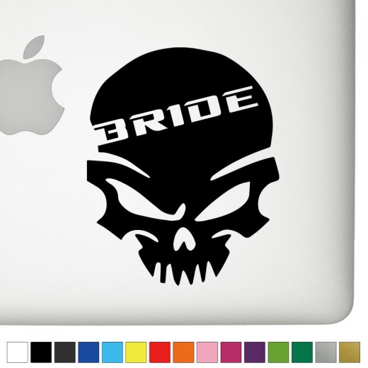 Bride Badass Skull Decal