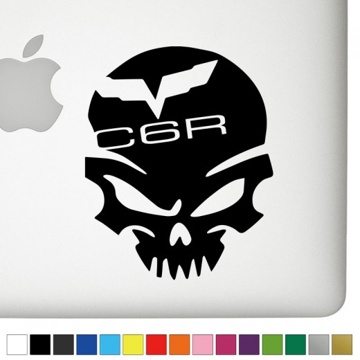 Chevy C6R Badass Skull Decal