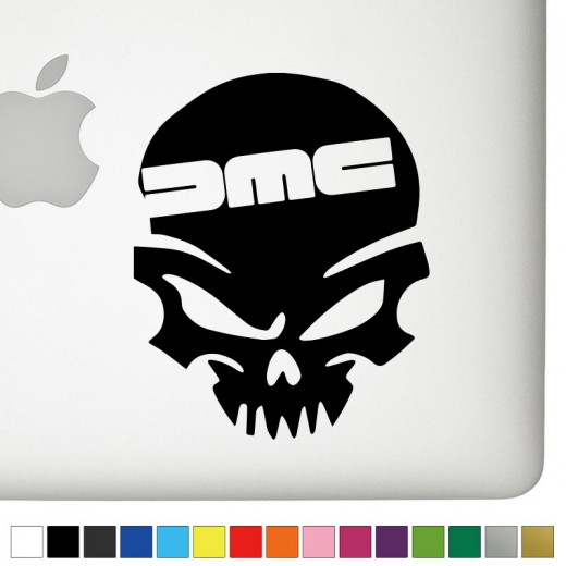 DeLorean DMC Badass Skull Decal