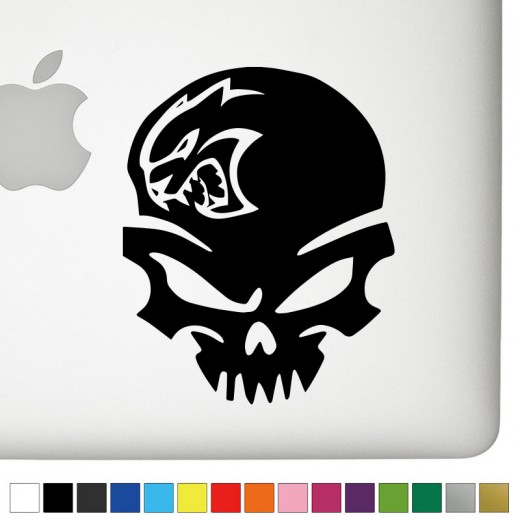 Dodge Hellcat Badass Skull Decal