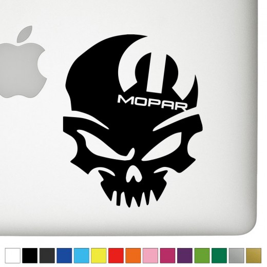 Dodge Mopar Right Badass Skull Decal