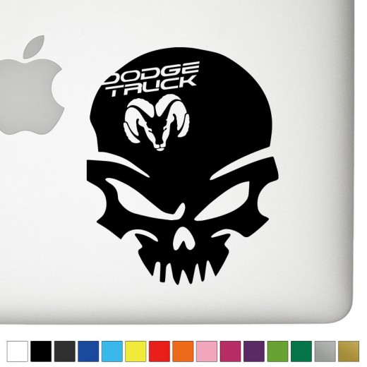 Dodge Truck Badass Skull Decal