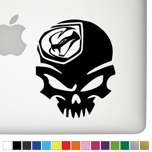 Dodge Viper Badass Skull Decal