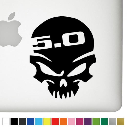 Ford 5.0 Badass Skull Decal