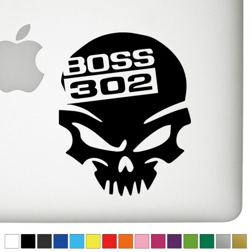 Ford Boss 302 Badass Skull Decal