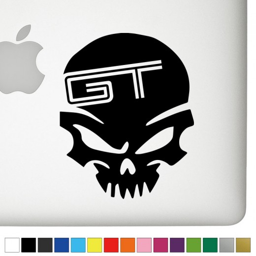 Ford GT Badass Skull Decal