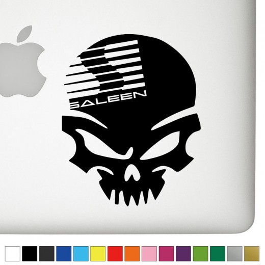 Ford Saleen Badass Skull Decal