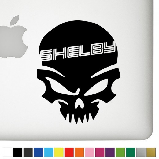 Ford Shelby Badass Skull Decal