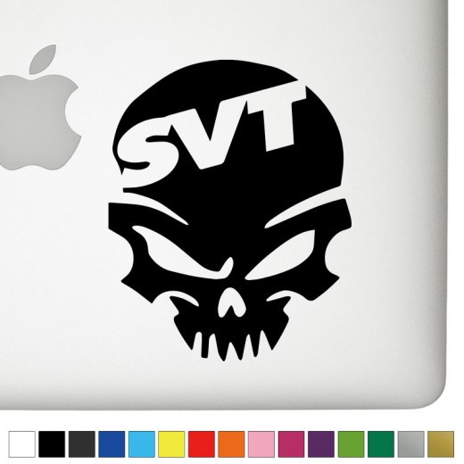 Ford SVT Badass Skull Decal