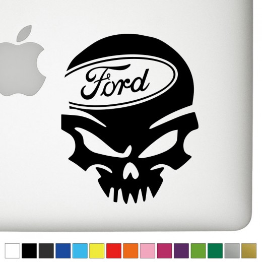 Ford Ver.1 Badass Skull Decal