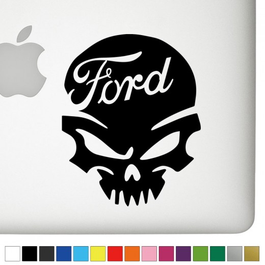 Ford Ver.2 Badass Skull Decal
