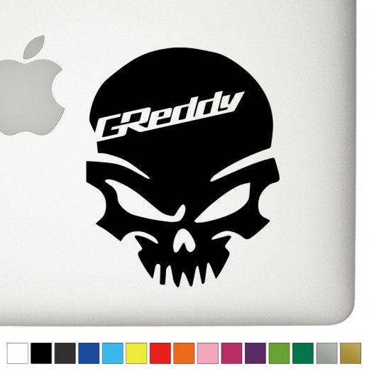 GReddy Badass Skull Decal