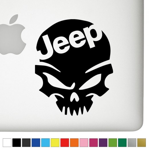 Jeep v 1 badass skull decal