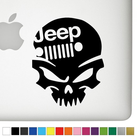 Jeep V.2 Badass Skull Decal