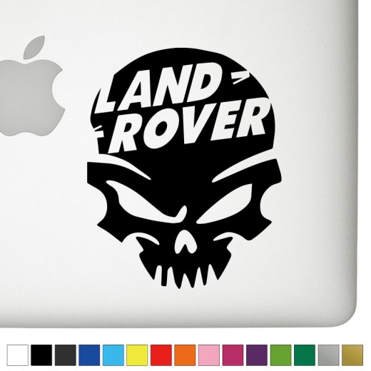 Land Rover Badass Skull Decal